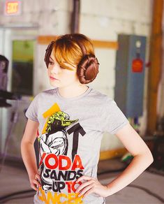 Emma Stone and StarWars. Where can I get those earmuffs?!