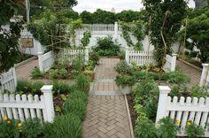 Formal herb & vegetable garden by Ken Gercens