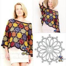 How to Crochet a Little Black Crochet Dress - Crochet Ideas Black Crochet Dress, Crochet Cardigan, Crochet Shawl, Crochet Lace, Crochet Stitches, Crochet Patterns, Crochet Squares, Crochet Granny, Pull Crochet