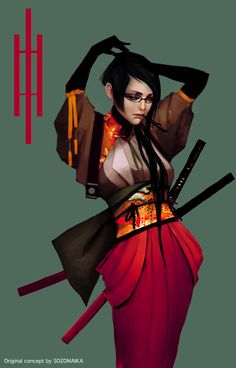 Satomi - original character #conceptart by Maika Sozo