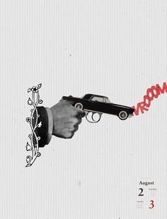 02-03/08/2014 Novela negra #collage #ganster #gun #revolver #coche #mafia #crimen #corrupto #mafioso #illustration by Gustavo Solana made in #diascontados