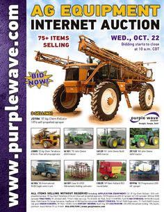 Ag Equipment Auction October 22, 2014 http://purplewave.com/a/141022