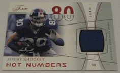 ae568a9a6b1 JEREMY SHOCKEY - 2004 Fleer Flair Game Used Jersey Relic Card - #076/150
