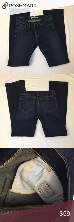 "Like New J Brand Jeans Dark blue wash. 30.5"" inseam. Show no signs of wear, like-new condition. J Brand Jeans Boot Cut"