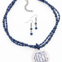 Gorgeous Inlet Blue Necklace Set at the Shopping Mall, $16.95  FREE MONOGRAM & SHIPPING!