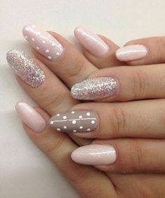 Pretty and Easy Glitter Nail Art Designs
