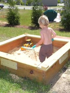 I like this design of a sand box. need to find instructions. Site has TONS of fun ideas for kids.