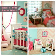 pink & teal nursery! This is exactly what I want!