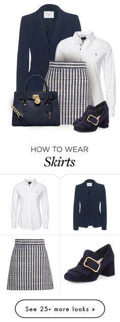 """""""Untitled #660"""" by seahag2903 on Polyvore featuring Dondup, Polo Ralph Lauren, Miu Miu, MICHAEL Michael Kors and Prada"""