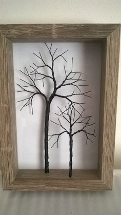 Small twisted wire tree in a rustic frame. by HandmadeCraftystuff on Etsy https://www.etsy.com/uk/listing/456072502/small-twisted-wire-tree-in-a-rustic