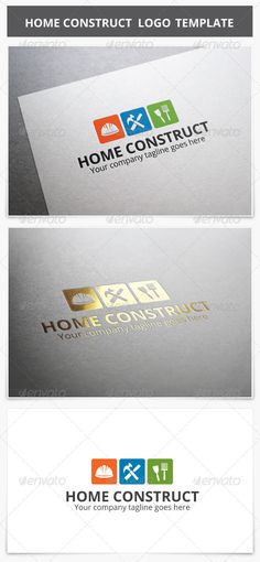 Home Construct  Logo Design Template Vector #logotype Download it here:  http://graphicriver.net/item/home-construct-logo/8219696?s_rank=44?ref=nexion