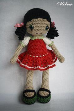 PATTERN - Gipsy girl Anita - amigurumi pattern, crochet pattern, pdf by lilleliis on Etsy https://www.etsy.com/listing/176413320/pattern-gipsy-girl-anita-amigurumi