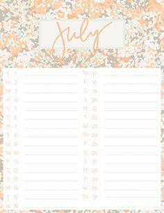 july desktop   iphone calendars