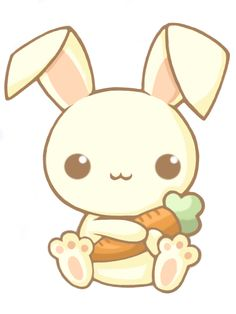 Bunny holding carrot