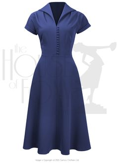 Late 1940s Dress we call the Hostess in French Navy