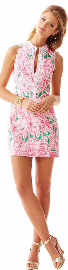 LILLY PULITZER ALEXA HIGH COLLAR SHIFT DRESS - spring 2015