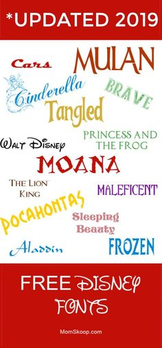 Disney fonts are a must-have for any Disney fan! These free fonts are great for birthday invites, party décor, and your upcoming trip to Disney! Disney Font Free, Disney Diy, Disney Crafts, Disney Fonts, Disney Quotes, Disney Cruise, Crafts For Teens To Make, Diy And Crafts, Fonts