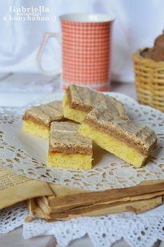 Gabriella kalandjai a konyhában :) Hungarian Cake, Hungarian Recipes, Hungarian Food, Raw Food Recipes, Sweet Recipes, Poppy Cake, Russian Cakes, Brownie Bar, Something Sweet