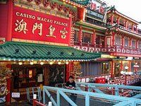 Macau Palace is a floating casino in Macau. It offers traditional Chinese games as well as the casnio standards.