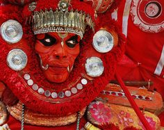 themagicfarawayttree:  In Kerala at Kannur this is Theyyam Time