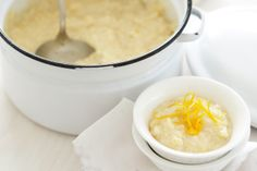 This orange scented rice pudding for four is a delicious treat.