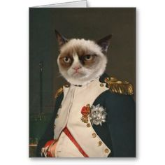 Fun Inexpensive Christmas Gifts for Your Boyfriend. Grumpy Cat Classic Painting Greeting Cards