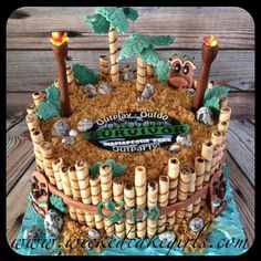 survivor tv show twin birthday party - Bing images 10th Birthday Cakes For Boys, Bithday Cake, 4th Birthday Cakes, 10th Birthday Parties, Birthday Ideas, Survivor Theme, Survivor Tv, Survivor Party Games, Party Themes For Boys