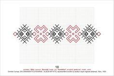 Romanian cross stitch pattern Cross Stitch Borders, Cross Stitching, Cross Stitch Embroidery, Cross Stitch Patterns, Crochet Cross, Blackwork, Needlepoint, 1 Decembrie, Pattern Design