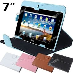 Stylish Protective PU Leather Carrying Case Cover Protector for 7 inch Tablet Flat PC CCA-76591