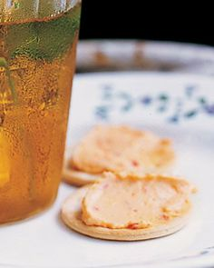 Pimento Cheese and Crackers - fave go to pimento cheese recipe. Blended in blender until smooth. Easy and delicious! ~dc