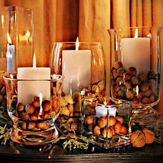 AUTUMN CANDLE DECORATION