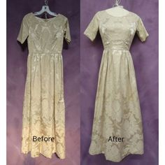 Barbara's wedding dress was lost for nearly 40 year.  It was finally found and given the royal treatment...#vintage #weddingdress