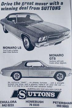Holden Australia, Holden Monaro, Australian Cars, Vintage Trucks, Vintage Advertisements, Old Cars, Custom Cars, Muscle Cars, Classic Cars