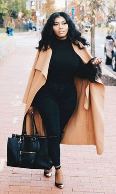 70 Casual Work Outfits For Black Women - Mode Frauen 60 Casual Work Outfits, Curvy Outfits, Mode Outfits, Work Casual, Classy Outfits, Chic Outfits, Black Girls Outfits, Curvy Work Outfit, Autumn Outfits Curvy