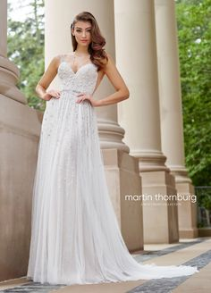 Martin Thornburg - a Mon Cheri Collection is a truly glamorous and unique wedding dress line that captures the personality of every bride on her wedding day. Find your perfect dress today! Mon Cheri Wedding Dresses, Mon Cheri Bridal, Dream Wedding Dresses, Designer Wedding Dresses, Wedding Gowns, Wedding Venues, Wedding Bride, Lace Wedding, Prom Dresses
