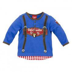 Trachten Sweatshirt ´Hosenträger´ blau für Junge