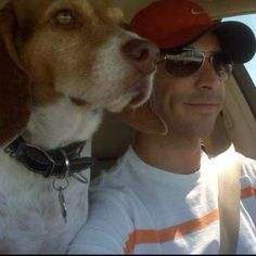 Co-pilot Tuggy with race car driver Helio Castroneves