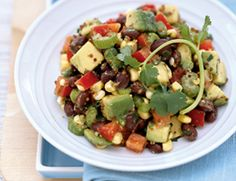 Chopped Black Bean-Avocado Salad.  Just made this and it's a keeper!