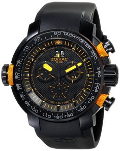 "Amazon.com: Zodiac ZMX Men's ZO8558 ""Special Ops"" Stainless Steel Watch with Black Rubber Band: Clothing"