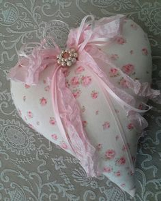 Fabric Heart Shabby and chic Cottage chic home by SavannahsCottage, $12.00