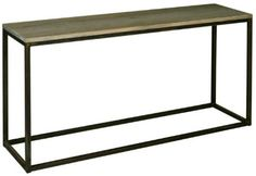 Flamant Maple Wood and Metal console table