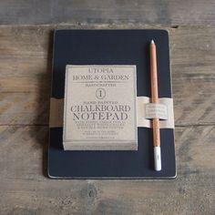 Chalkboard Notepad by UtopiaHomeAndGarden on Etsy, £25.00