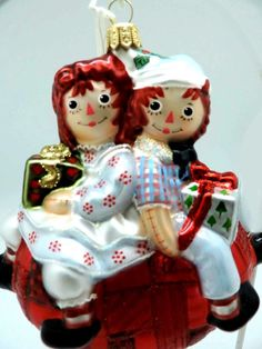 Polonaise Raggedy Ann & Andy Ornament New