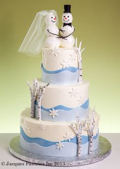 Winter Wedding Cake, maybe without the topper