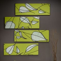 Bright Green Marimekko Wall Art