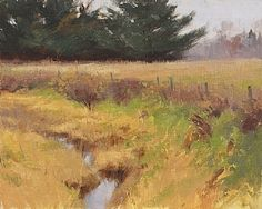 Along The Road Alone by Marc Hanson Oil ~ 8 x 10