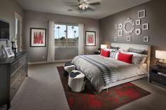20 Beautiful Gray Master Bedroom Design Ideas - Style Motivation **the white frames... Like?**