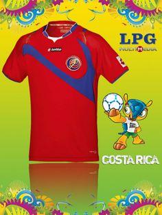 Camiseta de la selección de Costa Rica en el mundial #Brasil2014