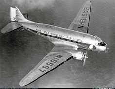 A DC-3 built for operation by Delta in 1942 but completed for USAAF as C-49J then Bought by Eastern and operated until sale in February 1952.