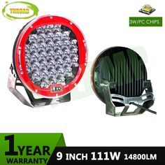 111w 9inch Red round led driving light ,led off road light led work light for SUV,ATV,UTV use 14800LM fishing truck use